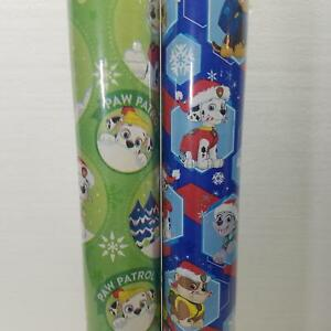 Wrapping Paper Roll Christmas 40 Sq Ft Paw Patrol You Choose Blue or Green