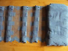 REST 35 meter Kurzgardine Scheibengardine Panneaux blau 45 Höhe Stangendurchzug