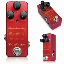 One Control Strawberry Red Overdrive Guitar Effect Pedal Design by BJFE
