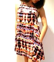 Ladies Girls Tunic Shift Dress Tie Dye Size 8 10 12 14 Small Med Large New SALE