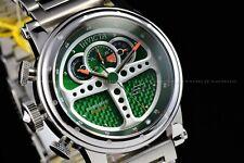 Invicta 48mm S1 Rally Behind the Wheel Dashboard on ur Wrist Chrono Green Watch
