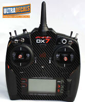 Carbon Fiber Spektrum DX6 DX7 DX8 Gen 2 Transmitter Radio Skin Wrap Decal Con...