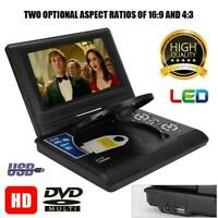 7inch TFT LED Portable Car DVD DVD-RW CD CD-R/RW EVD VCD MP3-CD Player AV USB2.0