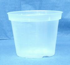 """Sima Clear Plastic Pot for Orchids 4 1/4"""" Diameter - Made in Germany - Qty of 1"""