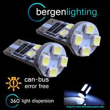 2x W5W T10 501 Canbus Libre De Errores Blanco 8 BOMBILLAS LED para matrícula
