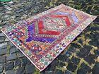 Vintage rug, Turkish, Handmade rug, Area rug, Wool rug, Bohemian | 3,2 x 5,4 ft