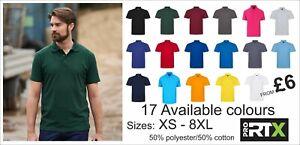 Pro RTX Pro Piqué Unisex Polo Shirt * XS-8XL* 50% polyester/50% cotton * 220gsm