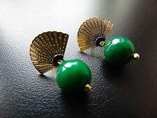 Runder Echtschmuck im Ohrstecker-Stil mit Smaragd für Damen Ohrschmuck