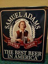 sam adams tin sign