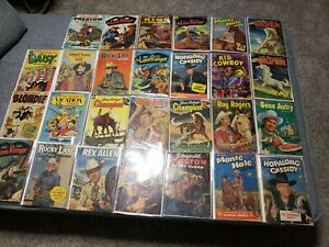 Golden Age 10 Cent COMIC BOOKS!  Nice BIG! Lot of Westerns & Cartoon, 27 COMICS!