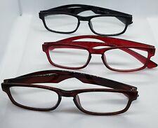 Lesebrillen Dioptrien +1,0 bis 4,0 Schwarz, Braun, Rot Lesehilfe Sehhilfe Brille