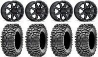 "Raceline Hostage 14"" Black Wheels 30"" Roxxzilla 396 Tires Commander Maverick"
