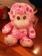 "Aerial Bouquets Perfect Plush 9"" Stuffed Plush Pink Monkey NWT"