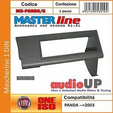 MASCHERINA AUTORADIO 1 DIN FIAT PANDA FINO AL 2003 - ADATTATORE UN DIN GRIGIO