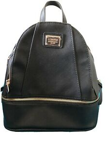 Collette Backpack BLACK with GOLD zippers