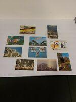 Lot of 10 Vintage Florida Color Postcards Gardens, Hotels, Ocean, Old Cars J245