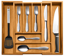 Bamboo Expandable Cutlery Kitchen Drawer Organizer Bellemain Flatware Storage