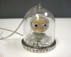 Swarovski Eliot Schneekugel Anhänger Halskette Kristallschmuck Silber - 1119678
