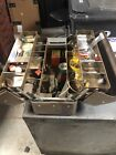 Vintage SIMONSEN Cantilever metal tool/tackle box, fold out trays W Lures!!!