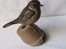 Poole Pottery Stoneware ROBIN Bird On A Plant Pot Realistic VGC
