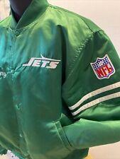 Vintage STARTER NFL NY New York Jets Satin Jacket Size XL