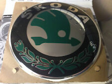 Rear  Skoda Badge (Original Green Black Chrome) 1U0853621C MEL