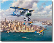The Fleet's In (Artist Proof) by John Young - Boeing F4B-2 - Aviation Art Prints