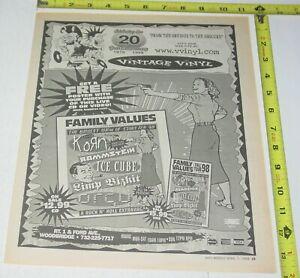 Family Values Korn Rammstein Limp Bizkit Live CD Video AD Advert 1999 Tour NJ