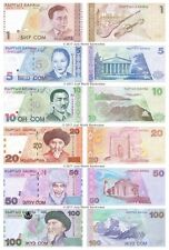 Kyrgyzstan 1 + 5 + 10 + 20 + 50 + 100 Som Set of 6 Banknotes 6 PCS UNC