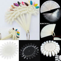 False Display Nail Art Acrylic Fan Wheel Polish Practice Tips Sticks Key Ring