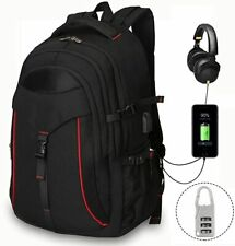 Men's Travel Backpacks,Extra Large Portable School College with USB Charging Por