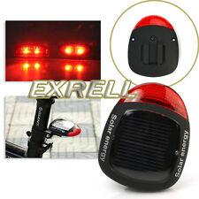 Fanalino Posteriore Energia Solare 2 LED Rosso 4 Modi Impermeabile Lampada Bici