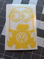 Volkswagen VW vinyl Decal Sticker YELLOW Jetta Passag Beetle Bug
