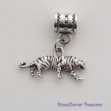 Tibetan Silver Tiger Charm fit European Charm Bracelet