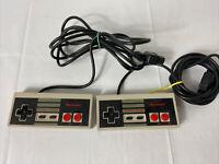Official Genuine OEM Nintendo Nes Brand Controller Gamepad NES-004 Set Lot Of 2