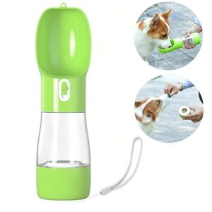2in1 Portable Pet Dog Water and Food Bottle for Walking Feeder Water Dispenser