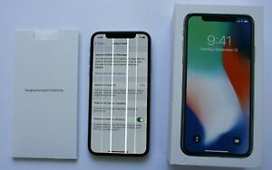 Apple iPhone X 256gb A1901 MQAV2LL/A Unlocked Working Properly Lines on Screen