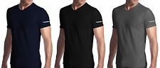 3 t-shirt uomo mezza manica scollo a V cotone stretch DIADORA art. 00901S