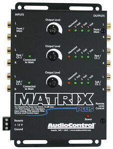 AudioControl Matrix Plus 6 Channel 13 Volt 24dB Gain Line Driver Audio Control