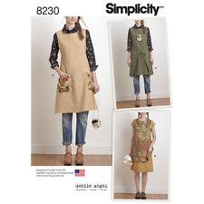 Simplicity 8230 Paper Sewing Pattern Misses 6-24 Dottie Angel Apron Dress Tabard
