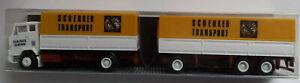 "Albedo - Volvo F88 / F89 & Drawbar Trailer ""Schenker Transport""- 1:87 ""HO"" Scale"