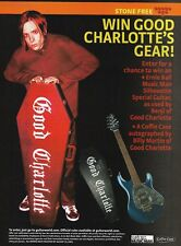 Good Charlotte Benji Ernie Ball Music Man Guitar Coffin Case contest 8 x 11 ad