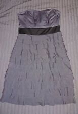 H&M Grey Bustier Tiered Dress Size 12