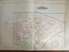 COPY OF 1899 LANCASTER CITY PA MCGRANN'S PARK PLATS 16&17 ATLAS MAP