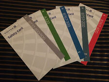 4 New Logo United Airlines Safety Cards Mainline Express 787 777 737+