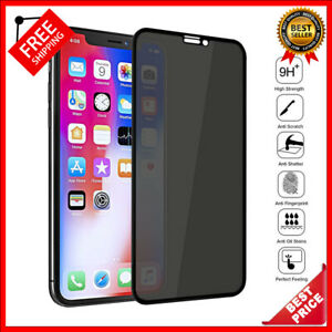 Full Cover Private Screen Protector For iPhone 13 X XS Antispy Tempered Glass