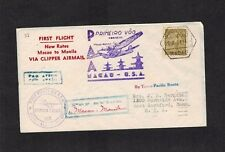 China Macao to Manila New Rates 1937 clipper First Flight