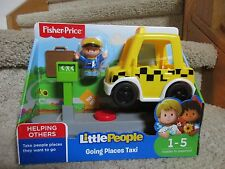 Fisher Price Little People Going Places Taxi Helping Others New Facial Features