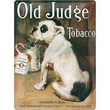 Nostalgie Blechschild -Old Judge Tobacco - Blechschilder