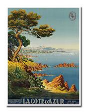 "French Riviera Travel Poster Art Decor Vintage Print 12x16"" Nostalgia XR631"